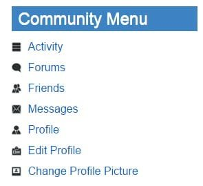 community-menu