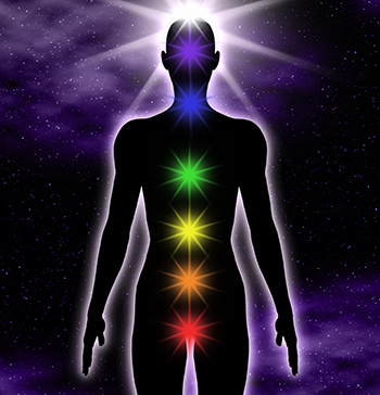 The chakras connect the physical and spiritual universe.