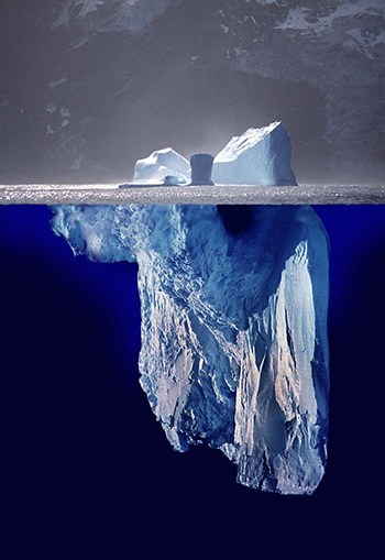 Our minds operate much like an iceberg.